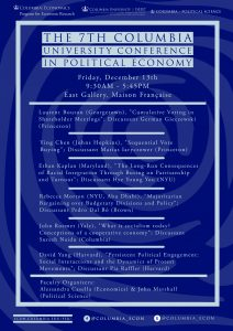 The Seventh Columbia University Conference in Political Economy