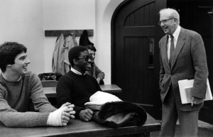 George Stigler (right) with students